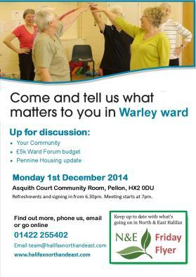 Ward forum poster