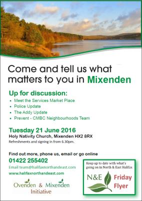 Mixenden June 2016 poster