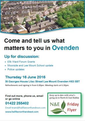Ovenden flyer poster Thursday 16 June 2016