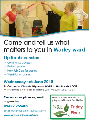 Warley Ward Forum poster - June 16