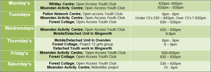 youth-service-timetable