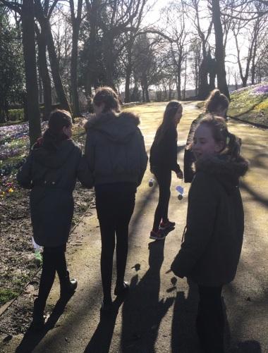Junior Wardens in Shroggs Park