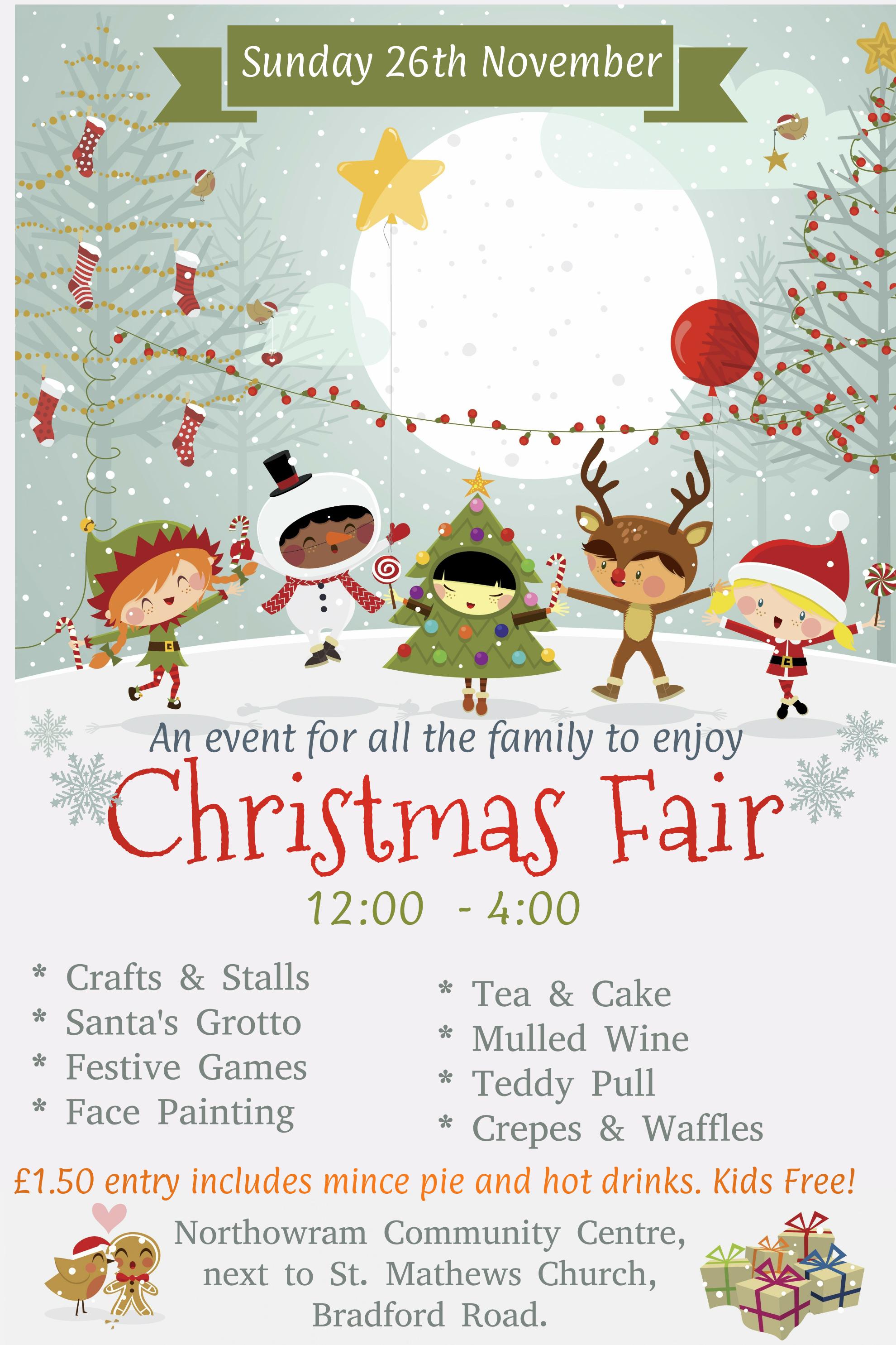 Christmas Craft Show Flyer.Christmas Craft Fair At Northowram Community Centre