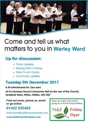 Warley Ward forum poster Dec