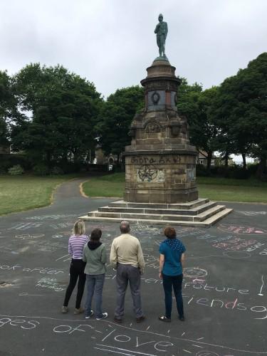 Community Response to Graffiti on War Memorial (3)