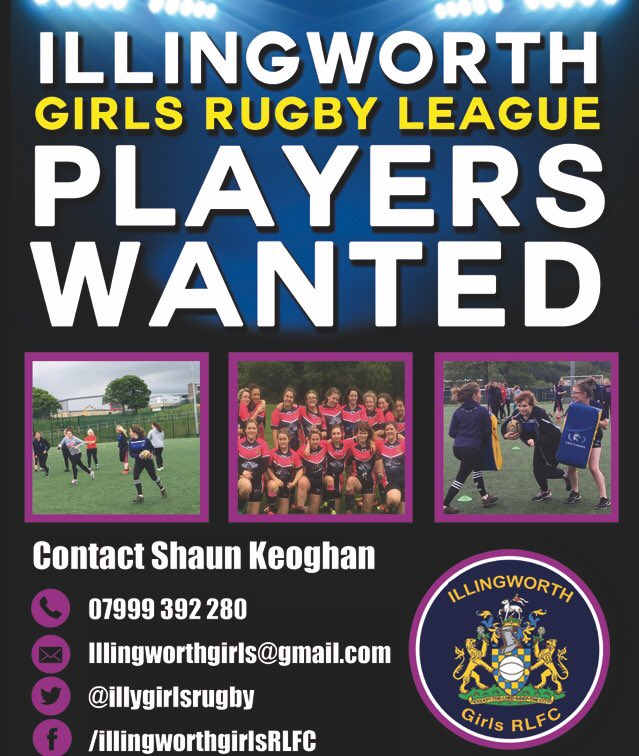 Halifax Rugby League Old Players: Illingworth Girls Rugby League… Players Wanted!