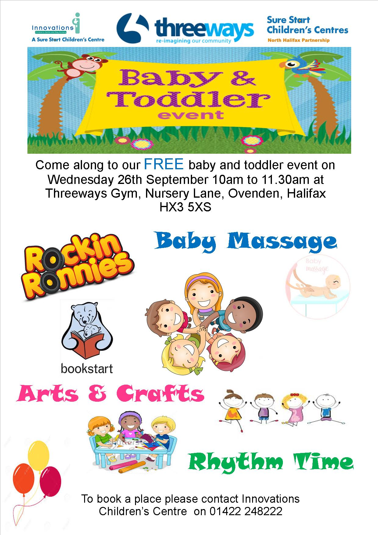 baby and toddler event from sure start at threeways gym. Black Bedroom Furniture Sets. Home Design Ideas