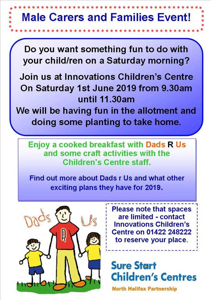 Dads 'R' Us are at Innovations on Saturday 1 June | Halifax