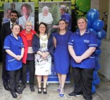 Ash Farid, Care Manager, Vicky Burrows, Cllr Dot Foster & care team